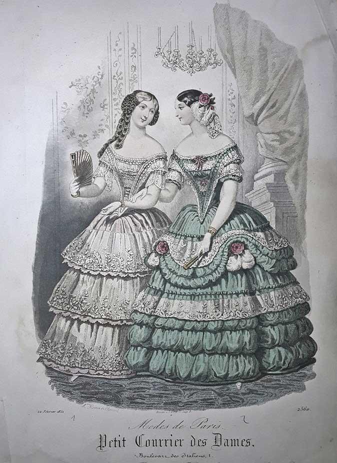 Ilustración Petit Courrier des Dames