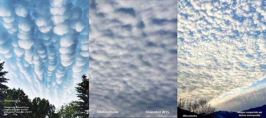 Distintos tipos de nubes