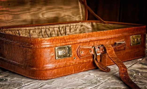 maleta abierta