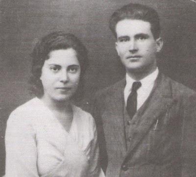 María la libertaria junto a su compañero Miguel Pérez Cordón