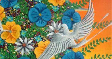 Detalle del cuadro Colibríes Blancos II - ALEJANDRO PINZON- Colombia