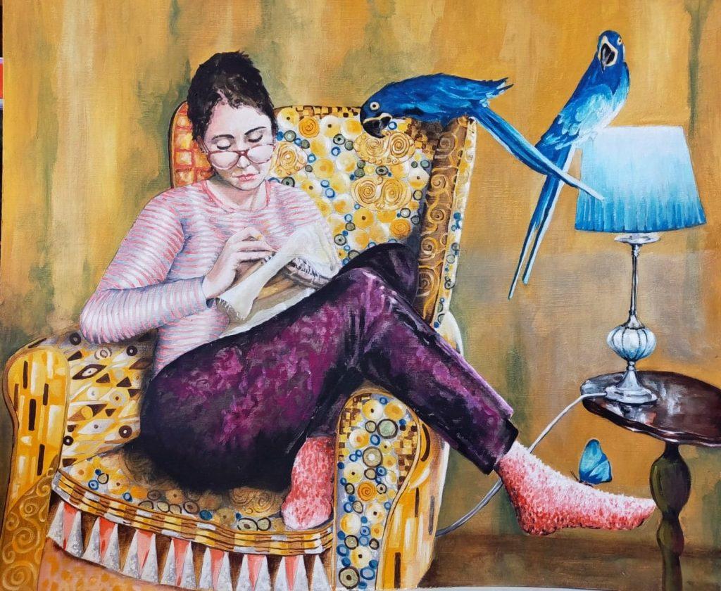 Nina. Öleo de Emilio Poussa