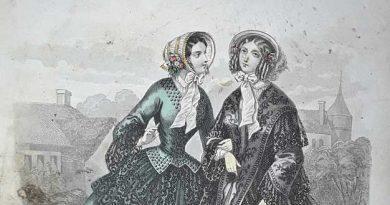 Detalle de una litografía de la revista Petit courrier des dames,