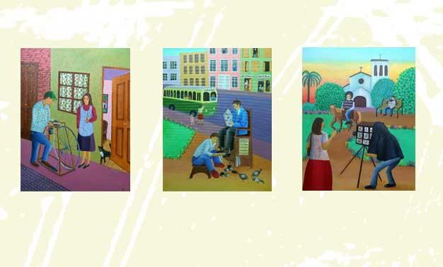 Diversos cuadros de Cecilia Byrne