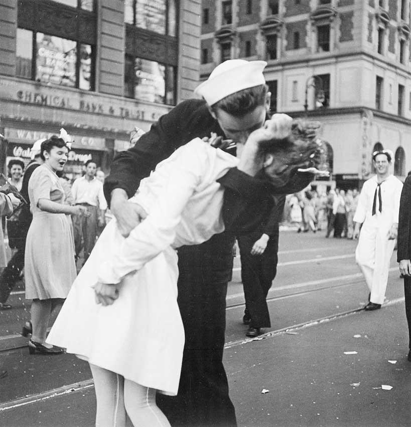 La famosa fotografía del beso en Times Sqare