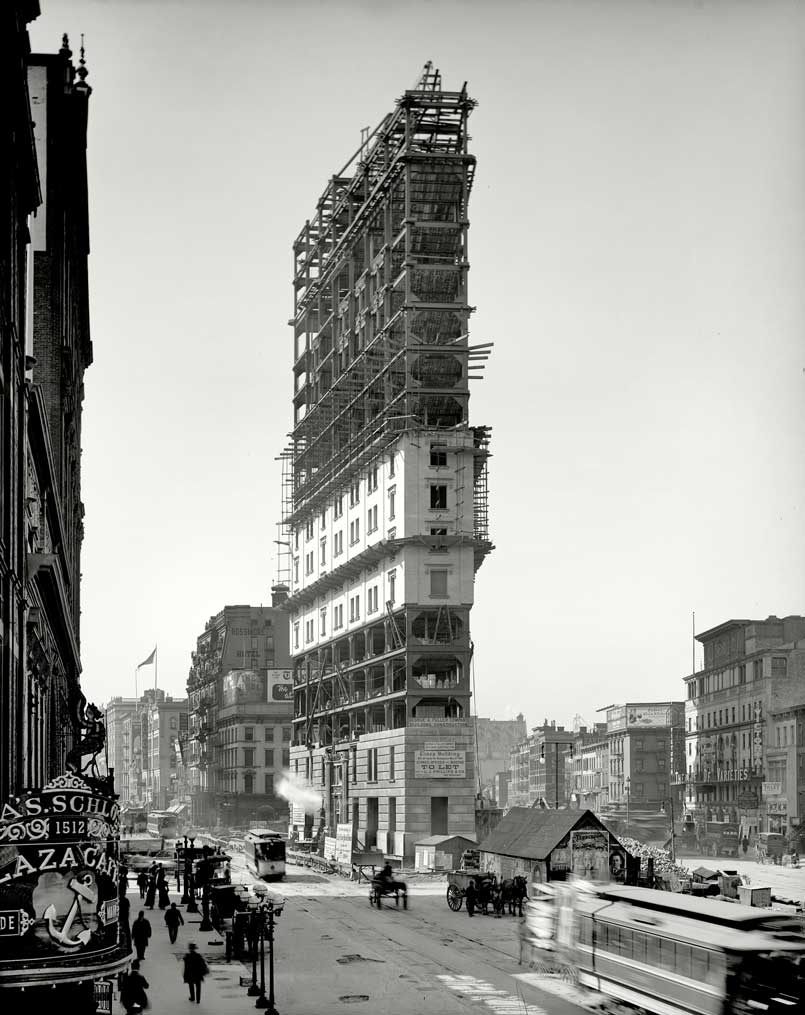 One Times Square en construcción en 1903