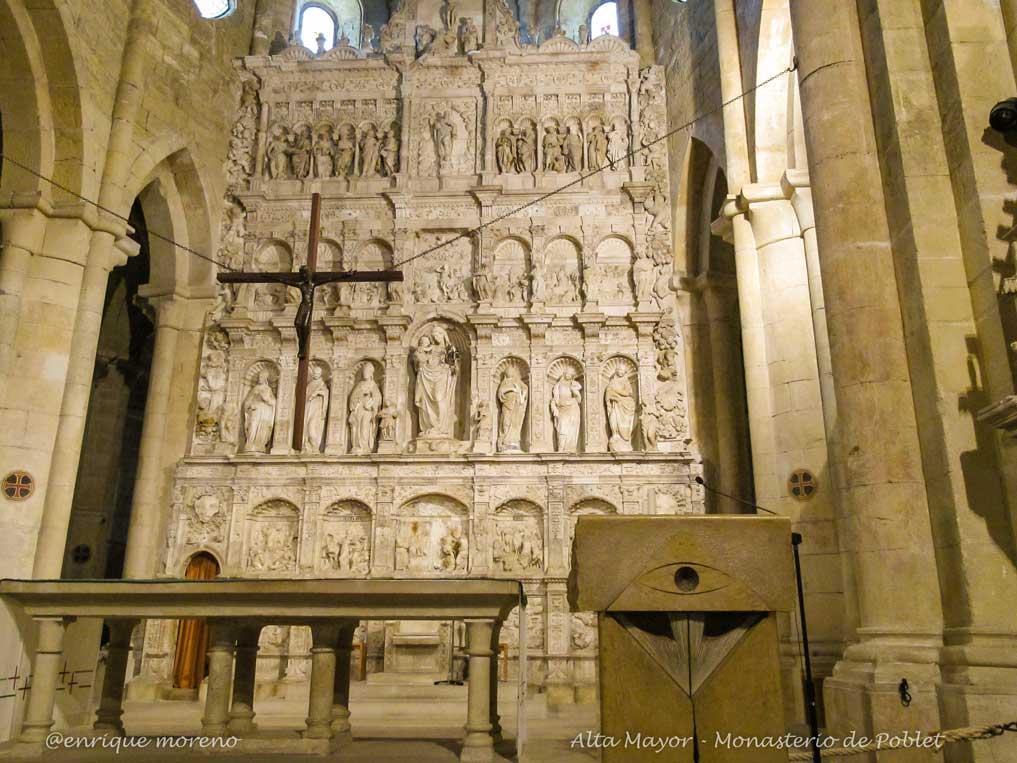 Altar mayor del Monasterio de Poblet