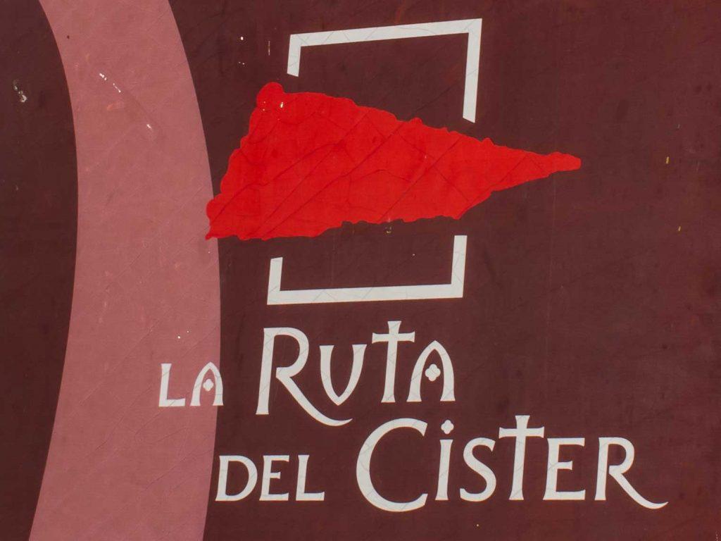 letrero de la ruta del cister
