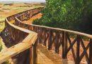 Detalle del óleo de Emilio Poussa titulado Playa de Camposoto. San Fernando