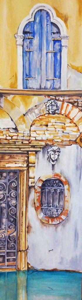 Palacio veneciano, óleo de Emilio Poussa