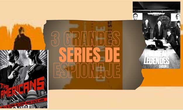 Fotogramas de tres grandes series de espionaje