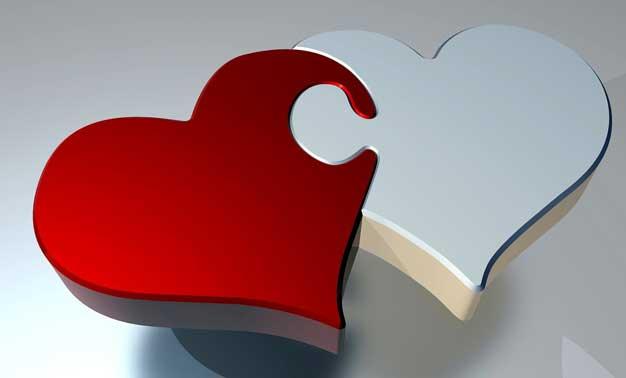 puzzle de corazones