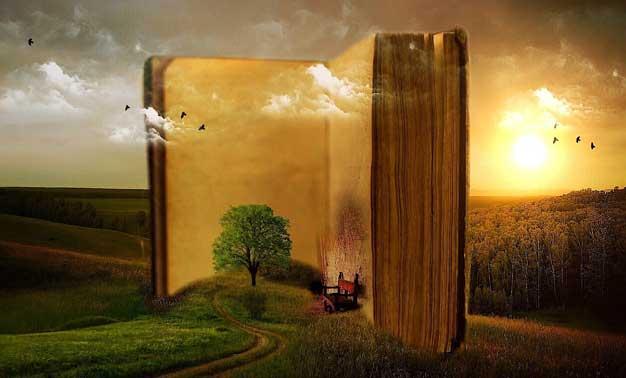 Fotografía artística de un libro