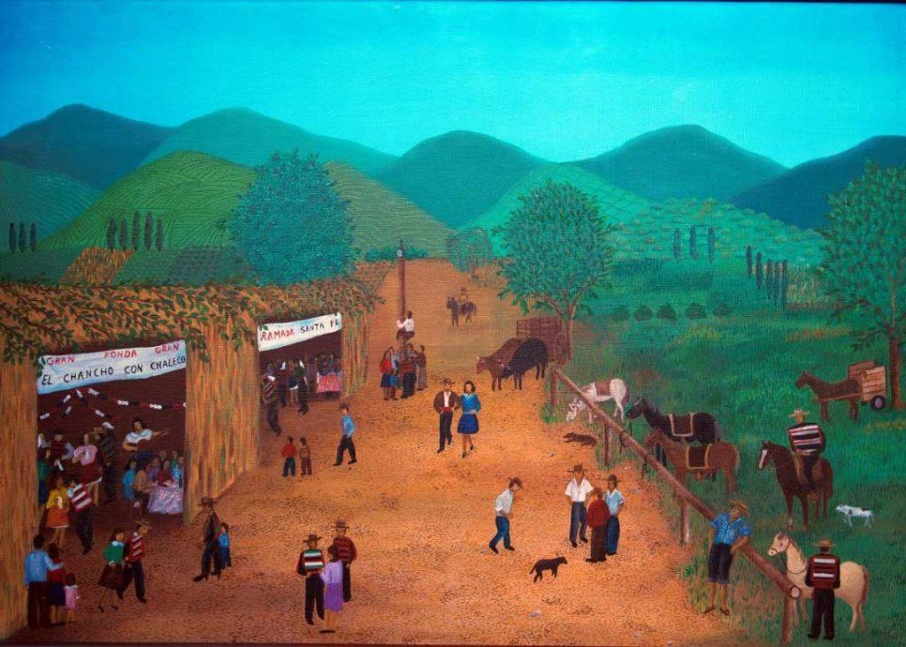 """Cecilia Byrne."""" Ramadas de campo"""", óleo sobre tela, 65x50 (1988)"""