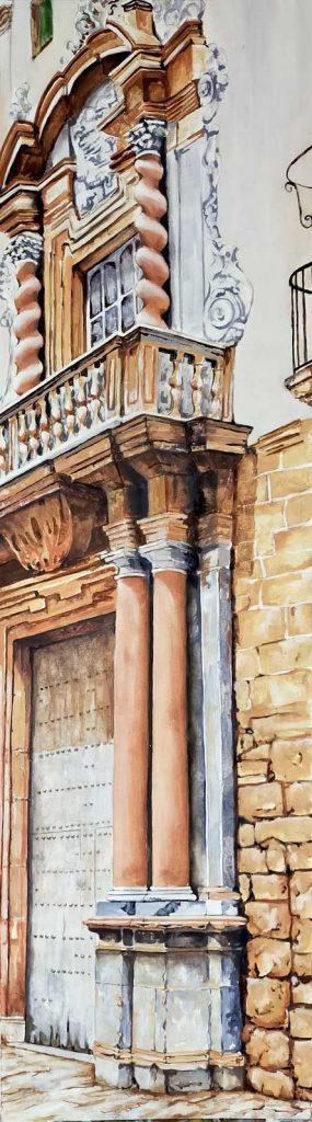 Casa Palacio del Almirante cuadro de Emilio Poussa