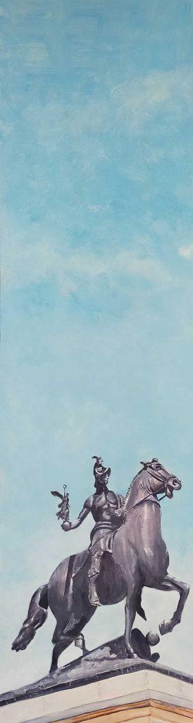 El cielo óleo de Emilio Poussa