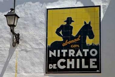 Cartel de nitrato de Chile en España