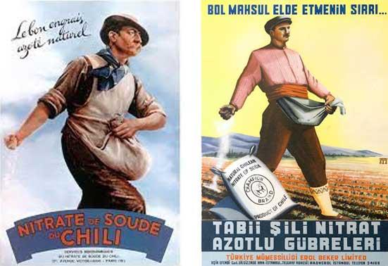 carteles de nitrato de Chile de Francia y Turquía
