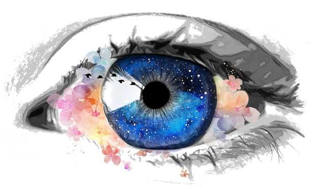 ojo humano contemplando la belleza